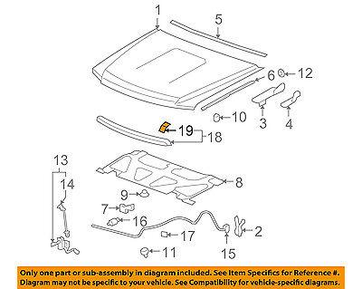 GM OEM Hood-Front Molding Retainer 11561788