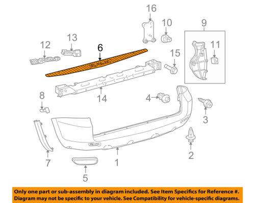 toyota rav4 rear bumper scuff plate 52581 42030 ebay. Black Bedroom Furniture Sets. Home Design Ideas