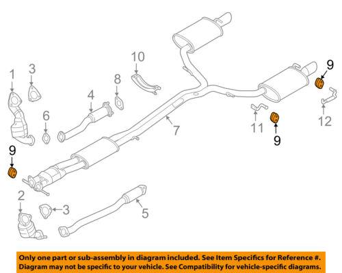 FORD OEM Exhaust-Muffler Pipe Hanger Insulator 5F9Z5F262AA