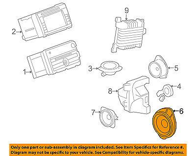 Buick GM OEM 08-16 Enclave Stereo Audio Radio-Rear Door Speaker 15785264