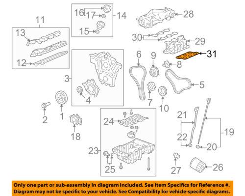Buick Enclave Saturn Outlook 3.6L Intake Manifold Gasket Kit new OEM 12609360
