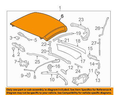 MERCEDES OEM 12-16 SLK350 Retractable Top-Top Panel 17279010409197