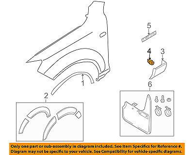 AUDI OEM 07-15 Q7 Fender-Lower Molding Clip 4L0853909B