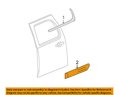 Chevrolet GM OEM 07-09 Suburban 1500 REAR DOOR-Body Side Molding Left 25991894