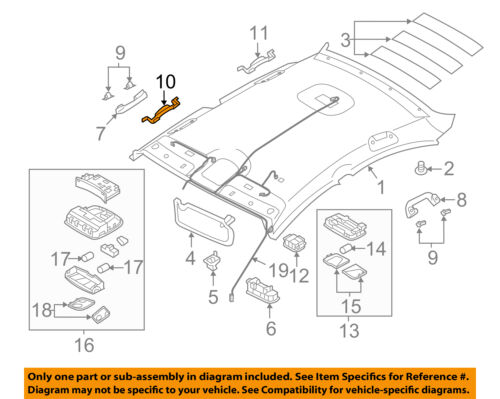 Front Left Genuine Hyundai 85431-4RFL0 Ceiling Assist Handle Mounting Bracket Assembly