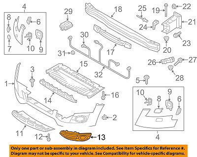 AUDI OEM 13-16 allroad Front Bumper-Lower Bottom Grille Grill Left 8K0807681J01C