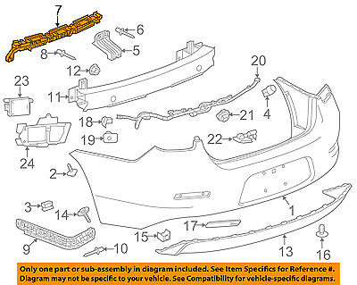 Chevrolet GM OEM 13-16 Malibu Rear Bumper-Center Bracket 22934598