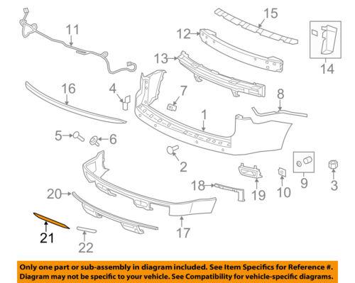 GMC GM OEM 13-16 Acadia Front Bumper-Extension 20982397