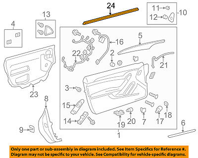 Cadillac GM OEM CTS Door-Window Sweep Belt Molding Weatherstrip Right 22752142