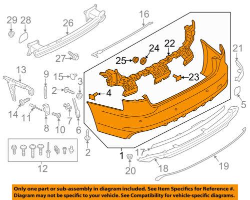 AUDI OEM 17-18 A4 Rear Bumper-Cover 8W5807067CGRU