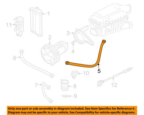 VW VOLKSWAGEN OEM 99-05 Jetta 2.0L-L4 Emission-Intake Pipe 1J0131128