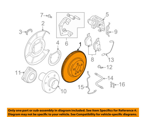 2007 bmw 525i brake diagram bmw oem 04 07 525i rear brake rotor 34216864061 ebay  bmw oem 04 07 525i rear brake rotor