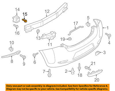 NISSAN OEM 13 16 Leaf Rear Bumper Stay Bracket Support Right 852103NF0A
