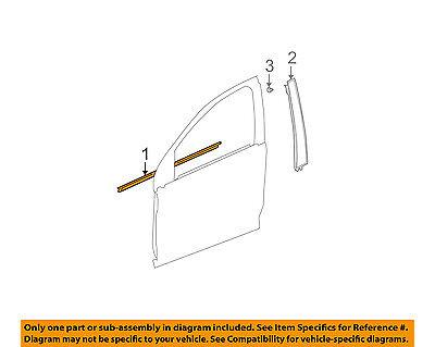 Saturn GM OEM Front Door Window Sweep-Belt Molding Weatherstrip Right 15235723