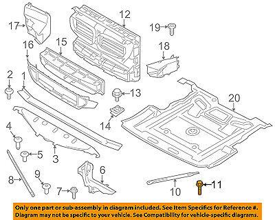BMW OEM 10-15 760Li Radiator Core Support-Outer Brace Bolt 07147029829