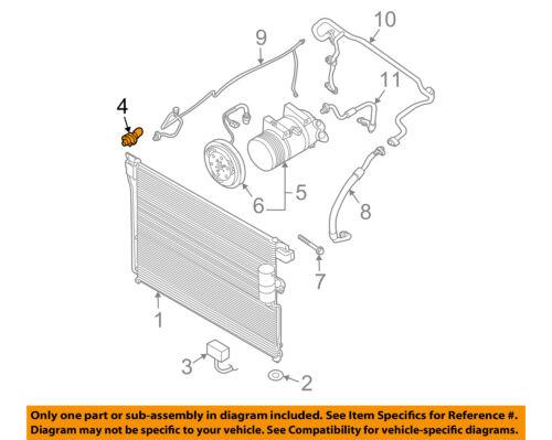 Nissan Oem Air Conditioner Acrefrigerant Pressure Sensor. 4 On Diagram Onlygenuine Oe Factory Original Item. Nissan. 2006 Nissan Frontier Air Conditioner Diagram At Scoala.co