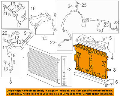 GM OEM A/C AC Condenser/Compressor/Line-Mount Frame 22951195 A/c Condenser Mount