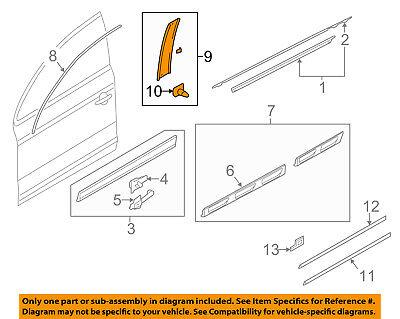 AUDI OEM 07-15 Q7 Front Door-Applique Window Trim Right 4L0837902Y9B
