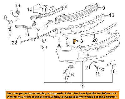 GM OEM Front Bumper-Bumper Cover Lower Retainer 25631448