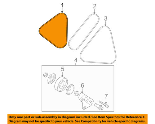 2009 kia spectra engine diagram kia oem 04 09 spectra engine belt 2521223721 ebay  kia oem 04 09 spectra engine belt