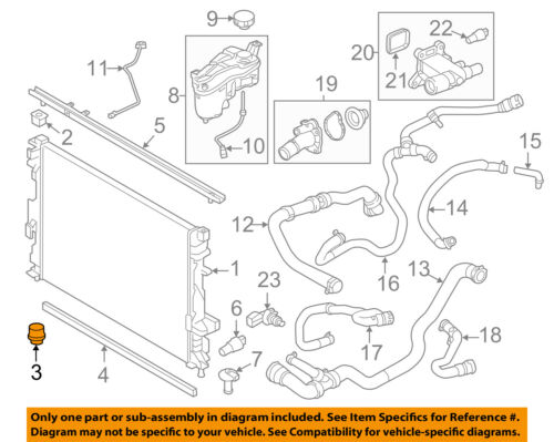 Automotive LAND ROVER RADIATOR UPPER INSULATOR LR2 EVOQUE SPORT 15 RR 13 OEM SET 2 LR007399