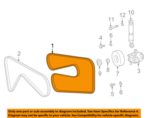 mercedes mercedes-benz oem 98-00 slk230-serpentine drive fan belt 0119970292