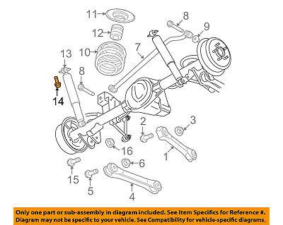 Upper Bolt - 6104215AA, CHRYSLER OEM Rear Suspension-Shock Upper Bolt