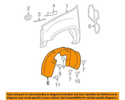 Cadillac GM OEM Escalade ESV-Front Fender Liner Splash Shield Left 22860081