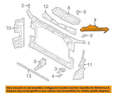 AUDI OEM 12-15 A7 Quattro Radiator Core Support-Headlight Cover Left 4G8805285C