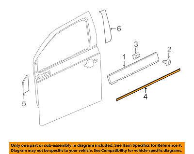 Chevrolet GM OEM 11-15 Volt Front Door-Chrome Strip Right 22953946