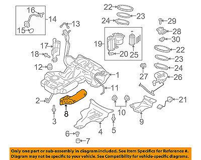 AUDI OEM 10-16 A5 Quattro 2.0L Fuel System-Provoke Gas Tank Heat Shield 8K0201308F