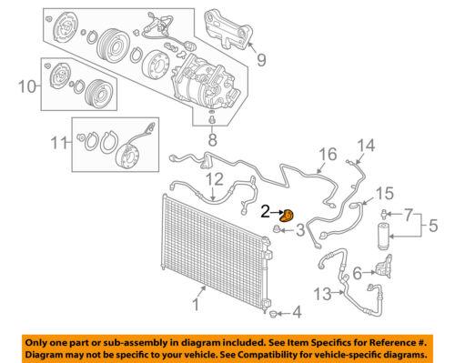HONDA OEM A//C AC Condenser//Compressor//Line-Condenser Upper Bracket 80107S04000