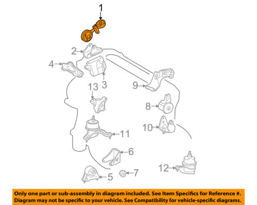 NISSAN OEM-Engine Motor Mount Torque Strut 113509N00A
