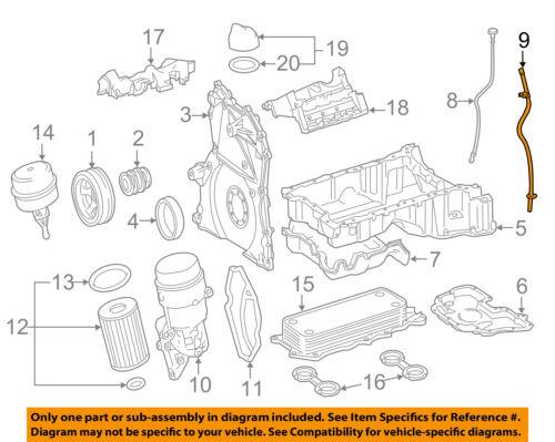 details about mercedes oem 07 09 e320 3 0l v6 engine oil level dipstick tube 6420101166  e320 v6 engine diagram #6