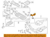 For 2004-2006 Audi TT Quattro Exhaust Pipe Front API 73214SF 2005 3.2L V6