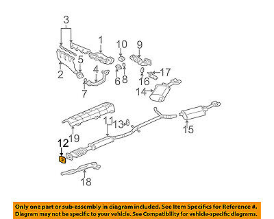 GM OEM-Exhaust System-Catalytic Converter & Pipe 3544534