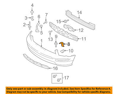 - FORD OEM 05-09 Mustang Front Bumper-Support Bracket Bracket Left 5R3Z8B455AB