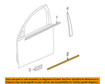 Chevrolet GM OEM 06-13 Impala FRONT DOOR-Body Side Molding Right 19257893