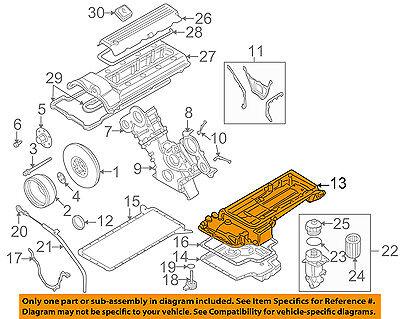 BMW OEM 00-03 Z8 5.0L-V8-Engine Oil Pan 11137831631