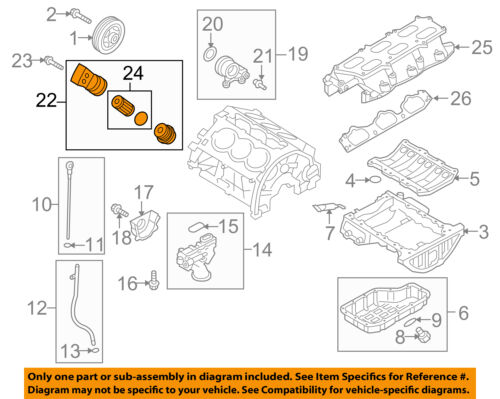 HYUNDAI OEM 10-16 Genesis Coupe Engine-Oil Filter 263003C701 | eBay | Hyundai 3 8l V6 Engine Diagram |  | eBay