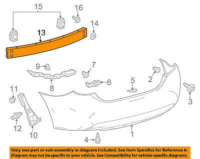 TOYOTA OEM Rear Bumper-Impact Bar Reinforcement Beam Support Rebar 5217102230