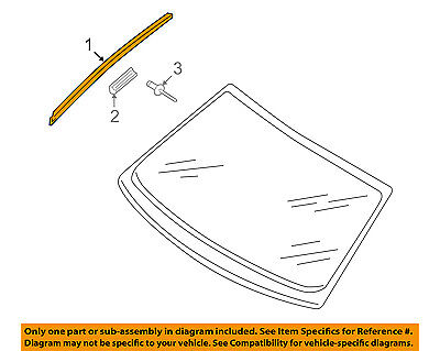 AUDI OEM 09-17 Q5 Windshield-Reveal Molding Left 8R0854327A01C