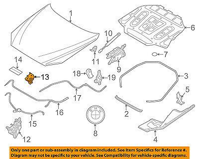 BMW OEM 13-16 M5 Hood-Lock Latch 51237183763
