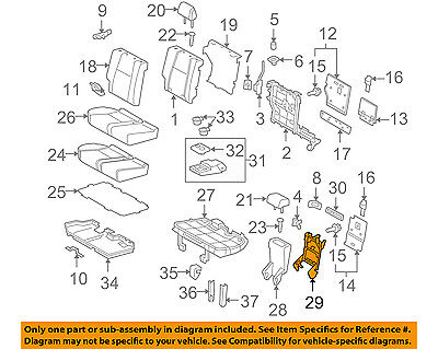 TOYOTA OEM 4Runner Second Row Back Rear Seat-Support Frame Right 7130560130 Second Row Runner