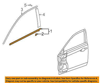 Acura HONDA OEM TSX-Door Window Sweep-Belt Molding Weatherstrip Left 72450TL0003