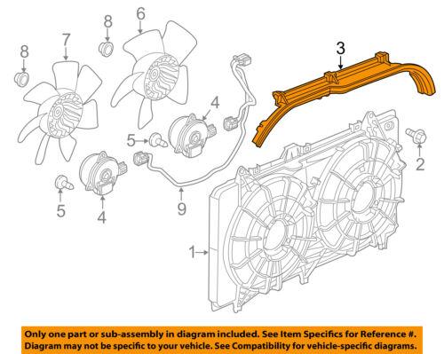 Chevrolet GM OEM 12-15 Camaro 6.2L-V8 Cooling Fan-Baffle 22828415