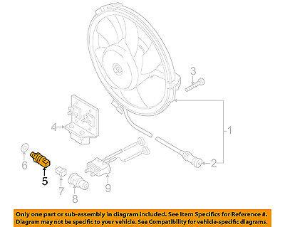 AUDI OEM 98-01 A6 Quattro 2.8L-V6 A/C Condenser Fan-Thermo Switch 8D0959481B