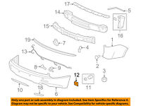 Right GM Genuine 15930295 Parking Sensor Retainer Rear