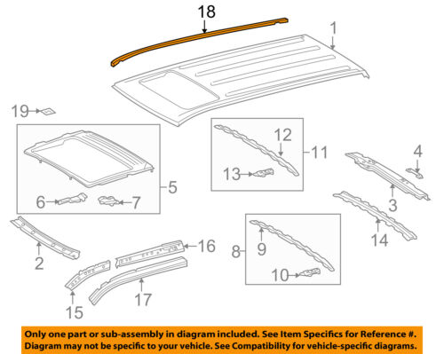 TOYOTA OEM CREW MAX ROOF-DRIP MOLDING DRIVER SIDE 755520C060 FOR 07-16 TUNDRA