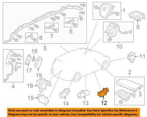 Honda  SRS Airbag Impact Side Sensor